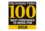 Sunday Times 100 Best Companies to Work For 2016